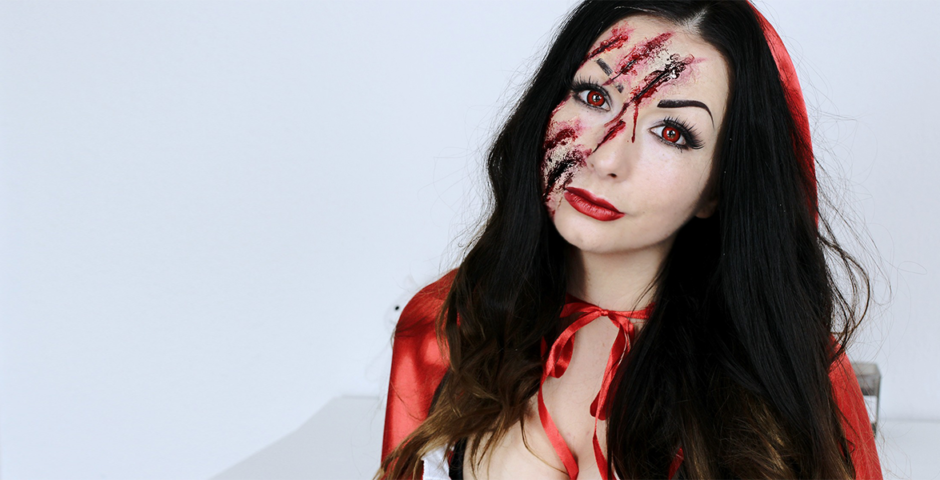 Snow White Little Red Riding Hood Halloween makeup tutorial